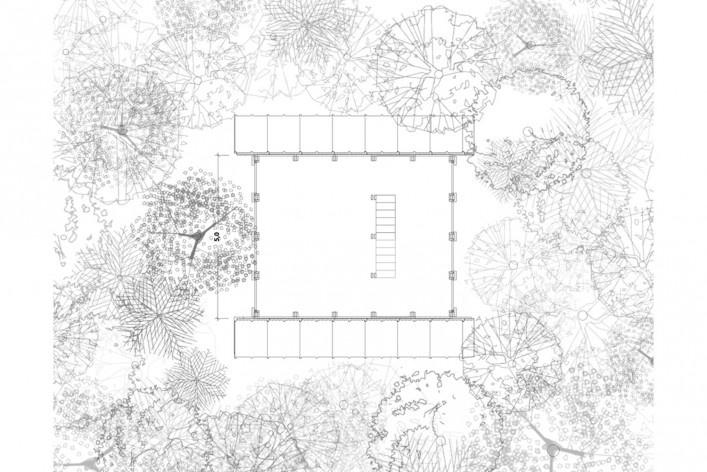 Monkey House, thirdy floor plan, Paraty RJ Brasil, 2020. Architect Marko Brajovic / Atelier Marko Brajovic<br />Imagem divulgação/ disclosure image  [Atelier Marko Brajovic]