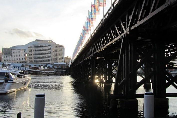 Pyrmont Bridge, Sidney<br />Foto Gabriela Celani