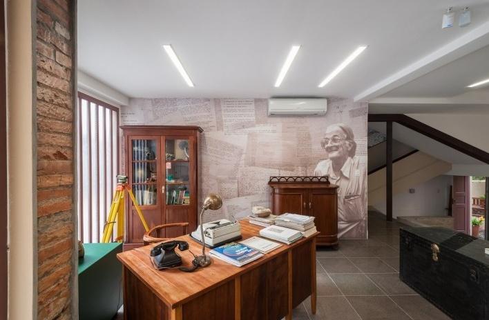 Casa Lutzenberger, recepção. Reforma Kiefer arquitetos