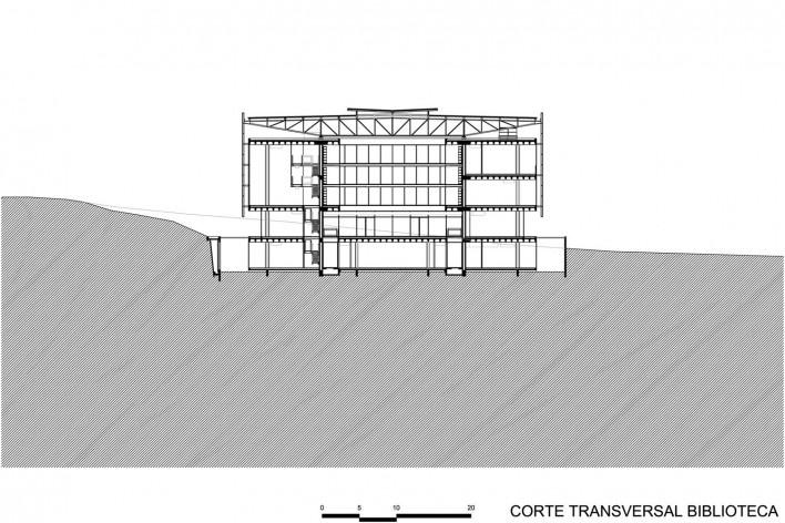 Corte transversal biblioteca - Biblioteca Brasiliana USP