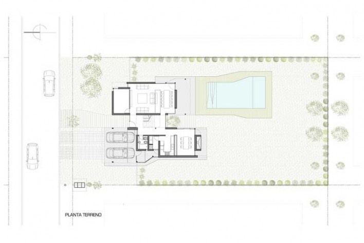 Casa H, ubicación, Funes, Argentina. Arquitectos Matías Blas Imbern y Agustina González Cid