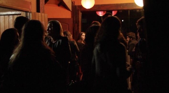 Festa no final da noite de abertura. Move Cine Arte 2012, Monte Verde<br />Foto Helena Guerra