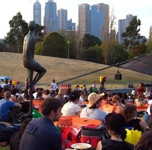 Show ao ar livre no parque