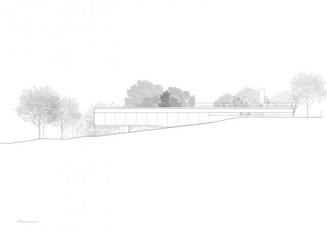 Casa em Cotia, UNA Arquitetos, 2016, elevação<br />UNA Arquitetos