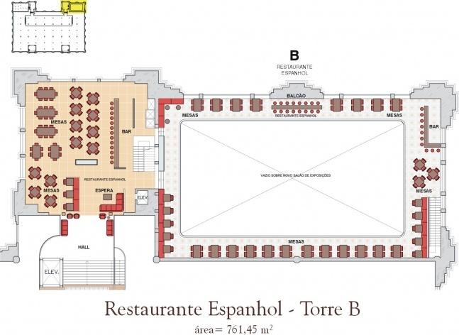 Restaurante Espanhol. Torre B<br />Imagem do autor do projeto