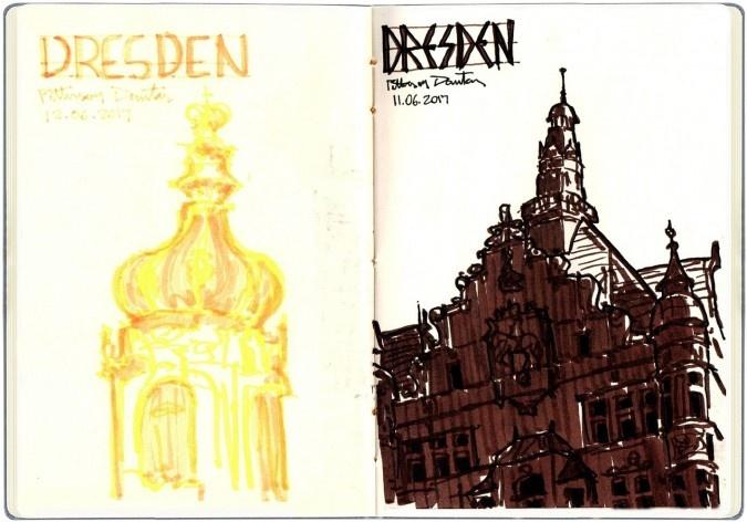 Dresden, Alemanha<br />Desenho de Petterson Dantas