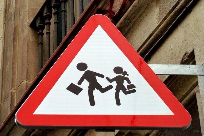 Placa em Barcelona, Espanha<br />Foto Michel Gorski