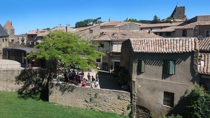 Ruas de Carcassonne, França<br />Foto Victor Hugo Mori