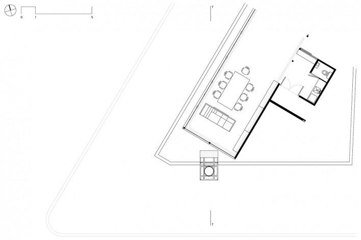 Subsolanus, planta cobertura (penthouse), Cidade do México, 2015-2016. Arquitetos Anna Juni, Enk te Winkel e Gustavo Delonero (Vão Arquitetura) + Marina Canhadas<br />Imagem divulgação