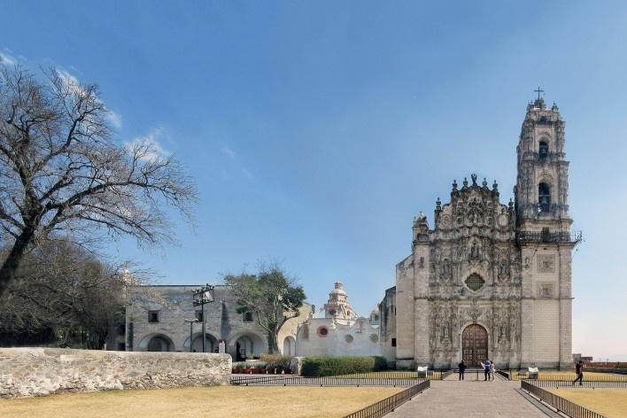Colégio Jesuítico de São Francisco Xavier, Tepotzotlán, México<br />Fotomontagem Victor Hugo Mori, 2018