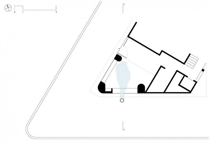 Subsolanus, planta térreo (galeria), Cidade do México, 2015-2016. Arquitetos Anna Juni, Enk te Winkel e Gustavo Delonero (Vão Arquitetura) + Marina Canhadas<br />Imagem divulgação