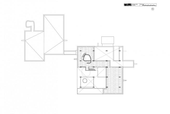 Casa Shodhan, planta quarto pavimento, Ahmedabad, Gujarat, Índia, 1951-56. Arquiteto Le Corbusier<br />Reprodução/reproducción  [website historiaenobres.net]