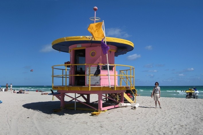 Alexandrina Mori em Miami, Estados Unidos, 2010<br />Foto Victor Hugo Mori