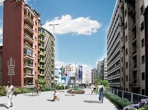 Parque suspenso<br />Imagens dos autores do projeto