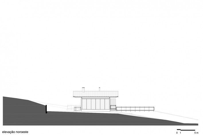 Residência Piracaia, elevação noroeste, Piracaia SP Brasil, 2012-2014. Arquitetos Lua Nitsche e Pedro Nitsche<br />Imagem divulgação  [Nitsche Arquitetos Associados]