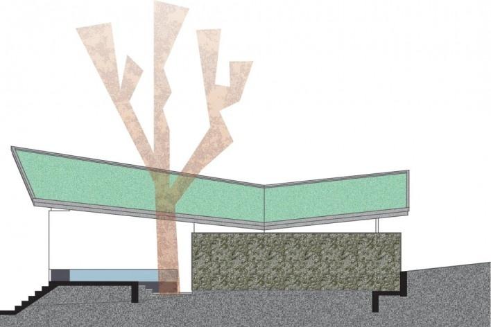 Residência SM (Casa Borboleta), fachada sul, Caxias do Sul RS, arquitetos Fernando dos Santos Rocha Machado e Rovena Maria Schumacher<br />Imagem divulgação