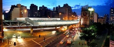 Vista da Av. São João<br />Imagens dos autores do projeto