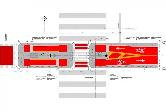 Ciclovia Paulista/ Travessia de pedestres<br />Studio GGA