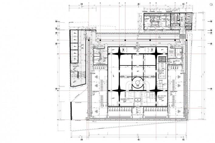 Sesc 24 de Maio, 12º pavimento, piscina, vestiários, Paulo Mendes da Rocha + MMBB Arquitetos, São Paulo<br />Imagem divulgação