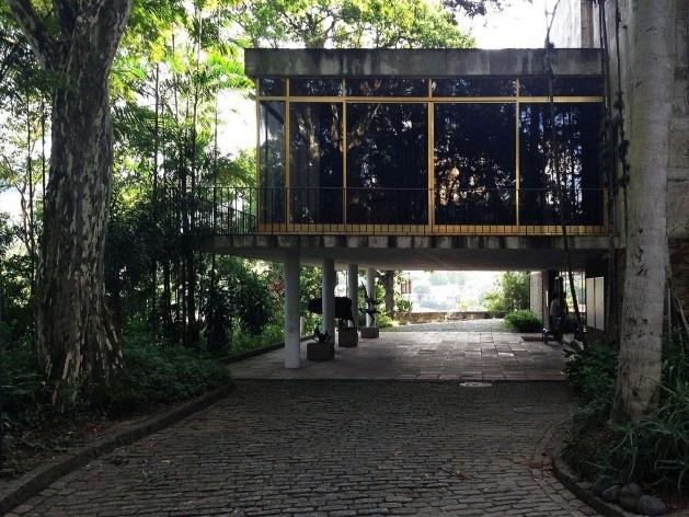 Museu Chácara do Céu, Acesso principal Museu Chácara do Céu<br />Foto Gustavo Henrique Campos de Faria, 2016