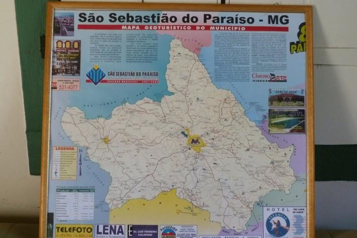 Localização do município São Sebastião do Paraíso, Estado de Minas Gerais<br />Foto Michel Gorski