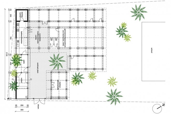 Community Center Camburi, plan, Ubatuba SP Brasil, 2018. CRU! Architects, Sven Mouton, Reintje Jacobs, Britt Christiaense e Jan Detavernier<br />Imagem divulgação  [CRU! Architects]