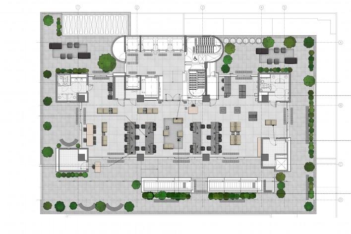 Sesc Avenida Paulista, planta pilotis, escritório Königsberger Vannucchi, 2018<br />Imagem divulgação  [Königsberger Vannucchi Arquitetos Associados]