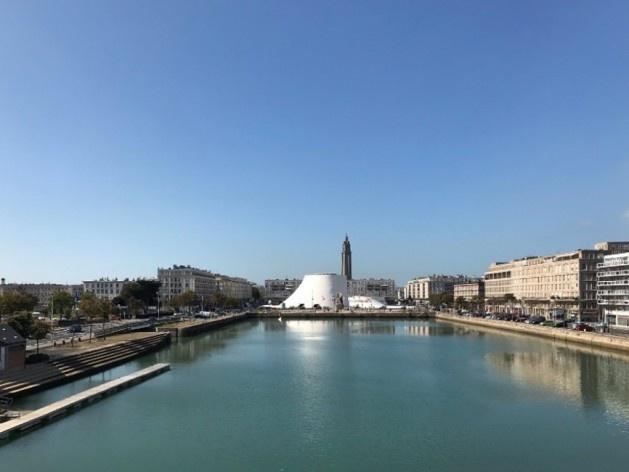 Vista da parte central de Le Havre (Centre Ville), Le Havre, França<br />Foto Jéssica Gomes da Silva, 2019