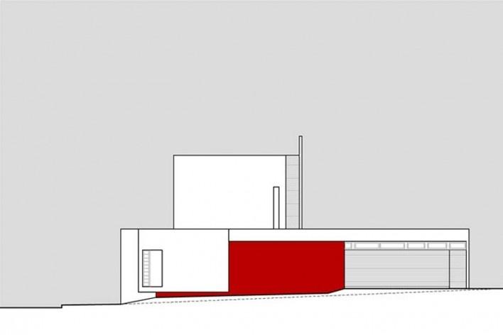 Arquiteto Fabiano Sobreira. Casa da Copaíba, Brasília, 2012. Elevação oeste