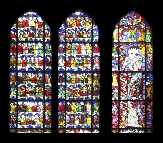 Vitral com demônio, interior da Catedral de Notre-Dame de Strassbourg<br />Foto Victor Hugo Mori