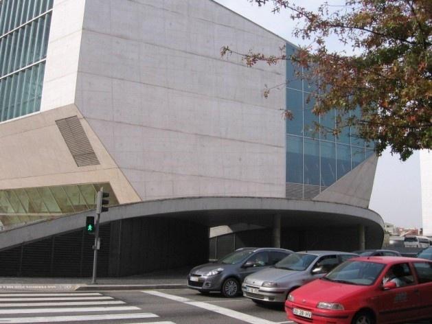 Casa da Música em Porto. Projeto de Rem Koolhaas.<br />Foto Geraldo Silveira
