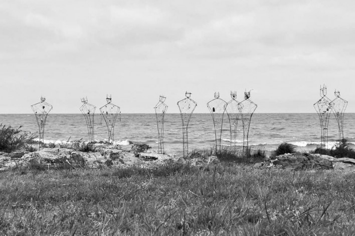 Memorial aos migrantes, Elea 2018, Colônia do Sacramento, Uruguai. Coletivo Arrabal<br />Foto Vir Diamante