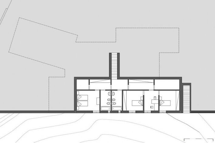 Casa no Figueiral, planta subsolo, Alcobaça, Portugal. Arquiteto Pedro Fonseca Jorge