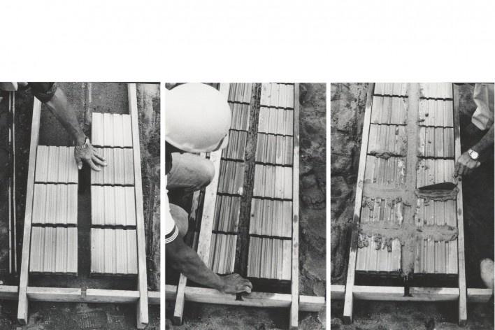 Fabricação de painéis de parede ou laje [Acervo Joan Villà]
