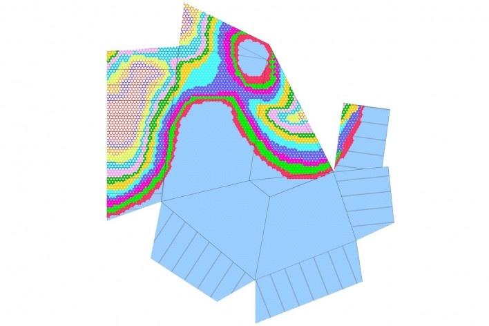 Skin_Tension diagram. The Cube, Park Associati. Brussels, 2011<br />image release