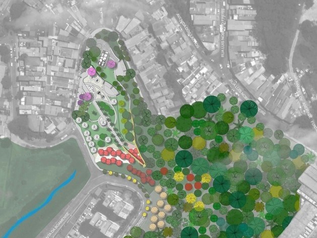 Parque Municipal Nair Bello, implantação da fase 01, São Paulo SP Brasil, 2020. Secretaria Municipal do Verde e do Meio Ambiente<br />Imagem divulgação  [Acervo SVMA/DIPO]