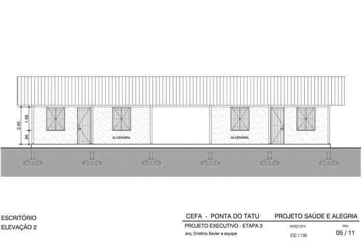 Centro Experimental Floresta Ativa - CEFA, elevação escritório, RESEX Tapajó-Arapiuns PA. Arquiteta Cristina Xavier<br />Imagem divulgação