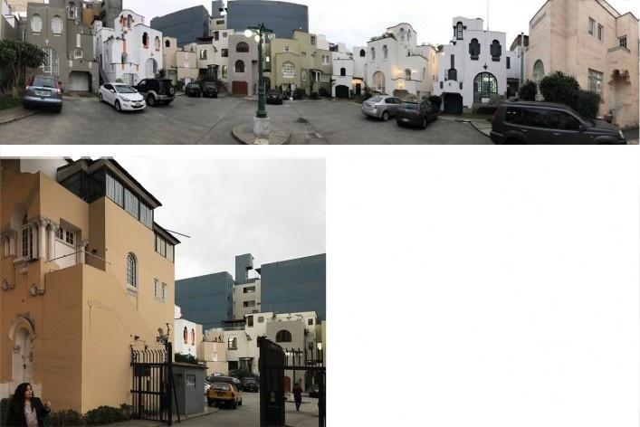 Duas vistas de vila residencial em Miraflores, Lima<br />Foto José Lira