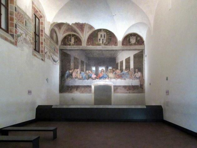 Última Ceia, de Leonardo da Vinci, refeitório da Igreja S. Maria delle Grazie, Milão<br />Foto Victor Hugo Mori