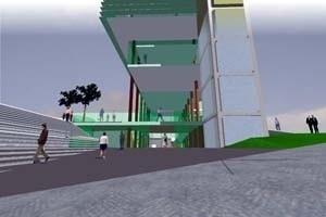 Entrada do Foyer<br />Imagem dos autores do projeto