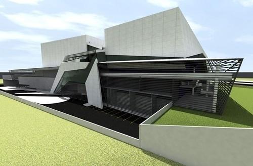 Perspectiva do fundo dos teatros<br />Imagem do autor do projeto