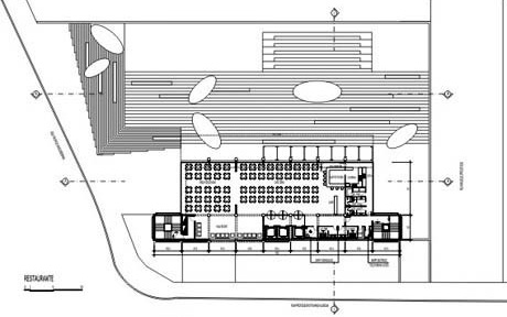 Planta nível do Restaurante<br />Imagem dos autores do projeto