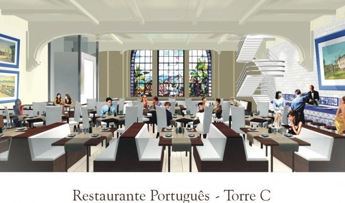 Restaurante Português. Torre C<br />Imagem do autor do projeto
