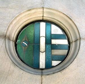Equilibrada composição com as bandeiras da tríplice aliança<br />Foto Michel Gorski