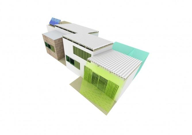 Casa tipo D. Concurso Habitação para Todos. CDHU. Casas escalonadas - 2º Lugar.<br />Autores do projeto  [equipe premiada]