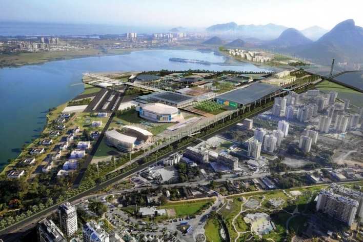 Rio Olympic Park – Aerial View Day<br />Rio 2016/ BCMF Arquitetos