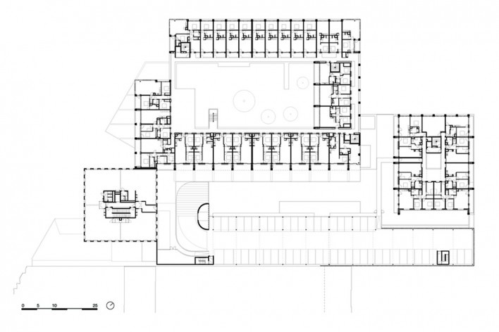 Bottière Chénaie, second floor plan, Nantes, France, 2019. Architects Kees Kaan, Vincent Panhuysen, Dikkie Scipio (authors) / Kaan Architecten<br />Imagem divulgação/ disclosure image/ divulgation  [Kaan Architecten]