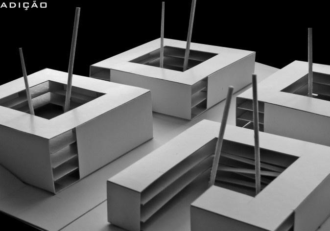 Operações de projeto 04. Concurso Habitação para Todos - CDHU. Edifícios de 3 pavimentos - 1º Lugar. [equipe vencedora]