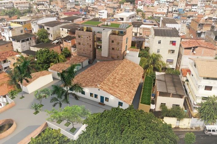 Casa de Òsùmàrè, Barracão, edifício existente, Salvador, 2017. Escritório Brasil Arquitetura<br />Foto divulgação