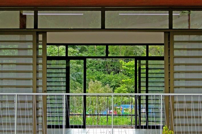 Sede Administrativa do Parque Natural Fazenda do Carmo, relação interior-exterior, São Paulo, Secretaria do Verde e Meio Ambiente – SVMA, 2018<br />Foto divulgação